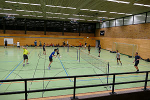Badmintonspieler in Aktion