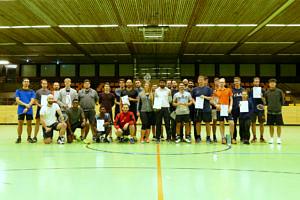 Gruppenbild Mannschaften Badminton Nikolausturnier